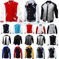US Men Fashion Varsity Jacket College University Letterman Casual Baseball Coat