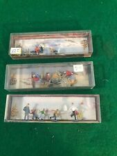 Ho Scale People Skiing And Skating Excellent Good Condition (Ho18915)