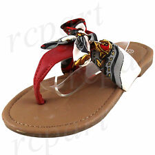 New girl's kids t strap slip on ribbon sandals color summer casual red