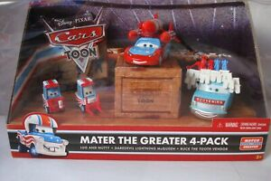 DISNEY CARS MATER THE GREATER 4 PACK Daredevil lightning McQueen Lug & Nutty