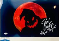 Ken Page signed Oogie Boogie 11X17 METALLIC photo BAS COA WA04921