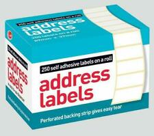 250 Self Adhesive White address Labels Postage Label Roll Sticky Stick
