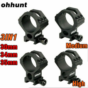ohhunt 30mm 34mm 35mm High Medium Profile Scope Mount Rings Fit 20mm Picatinny