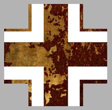CROIX DE FER BLANC/ROUILLE 15cm LUFTWAFFE HOT ROD RATS AUTOCOLLANT STICKER CA142