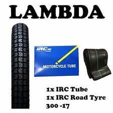 IRC Road Tyre 6 Ply and IRC Tube 300-17 for Honda CT110 Postie Bikes