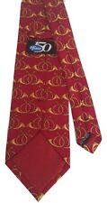 Man's Pfizer 150 Red & Gold Hunting Horns Silk Tie