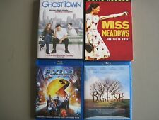 Lot of 4 dvds/blu-rays-Big Fish, Pixels, Ghost Town, Miss Meadows, used