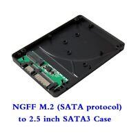 M.2 NGFF Sata3 SSD to 2.5 Inch SATA Adapter Card Hard Disk Case Enclosure Box