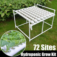 72 Plant Sites Hydroponic Grow Kit Deep Water Pump Vegetable Tool Garden