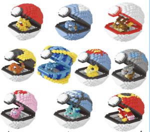 Pokemon pokeball whole set nanoblocks lego 4349pcs building blocks AU gift Kids