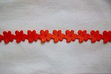 Dekoband Blüten orange - (Grpr. 1m/0,70 €) - 2 Meter