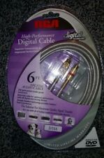RCA High-Performance Digital Audio Cable DT6A 6ft. (1.8m) 24k Gold-Plated Studio