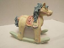 Rocking Horse Figurine Nursery Collectible Molded Resin