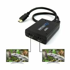 1080P HDMI Port Male to 2 Female 1 In 2 Out Splitter Cable Adapter Converter UK