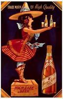 Miller High Life Beer Advertisement Poster Print