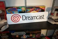 "Sega Dreamcast Display, Aluminum Sign, 6"" x 24""."