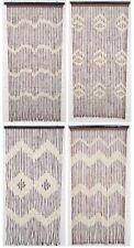 Beaded Bamboo Wooden Door Curtain Summer Blind Fly Curtain Screen 180 X 90cm UK
