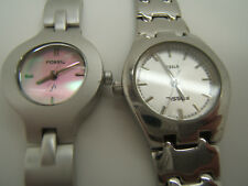 2 Ladies FOSSIL Watches Stainless, Brushed EF 9053  and FS 2505