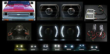 H6014 H6052 H6054 7x6 White LED Halo Black Projector Headlight HID 6K 8K 10K