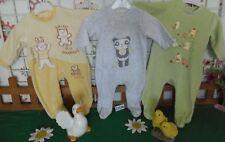 vêtements occasion garçon 3 mois,3 grenouillères velours