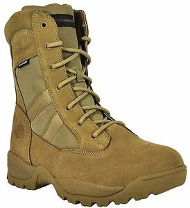 Smith & Wesson Breach 2.0 Men's Tactical Waterproof Side-Zip Boots - Coyote