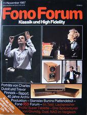 Fono Forum 11/87 ProAC Super-Tablette, Philips CD 880, T. Pinnock, C. Dutoit