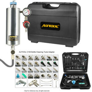 AUTOOL C100 No-Dismantle Gasoline Petrol Fuel System Injector Throttle Cleaner