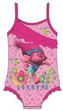 7385818382 Girls Official Licensed Trolls Poppy Pink Swimwear Swimming Costume Swimsuit