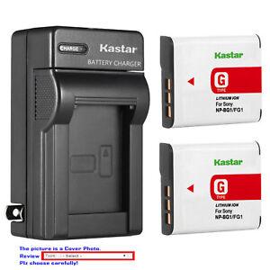 Kastar Battery Wall Charger for Sony NP-BG1 NPFG1 Sony Cyber-shot DSC-H90 Camera