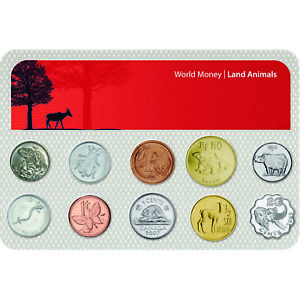 Authentic Genuine Collectable Silver Coins Land Animals Collection