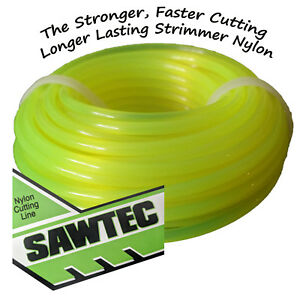 3 Packets of Sawtec 3mm Strimmer Nylon Cutting Line for Stihl Husqvarna Makita