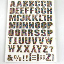 62 Assorted ABC Sticker Flower Alphabet Kids Scrapbook Card Envelope Sealing IQ