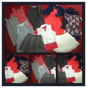 LOT~CLOTHES TOPS SKIRTS DRESSES JUSTICE HOLLISTER OUTFITS GIRLS SIZE 14-16 JR S