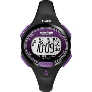 Timex IRONMAN® 10-Lap Watch Mid-Size Purple/Black T5K523JV
