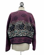 New listing Vintage Laurel Bunch By Silverado Cat Jacket Sweater Western Wool Cowgirl Sz L