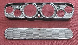 1965 1966 Ford Mustang Gauge Bezel Set-Carbon Fiber
