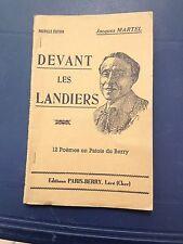 Devant les landiers Jacques Martel poèmes en patois du Berry Léré