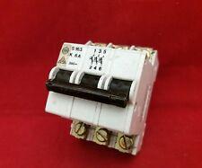 WYLEX SK S163 K6A 6A 6AMP TRIPLE POLE TP 3P MCB FUSE SWITCH