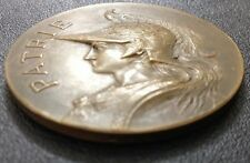 "French Art Nouveau Marianne & Rooster , BERTRAND, Bronze Medal / 51 mm (2"") /M89"