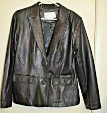 Margaret Godfrey Petite Women's Super Soft Black Leather Jacket - Size  10