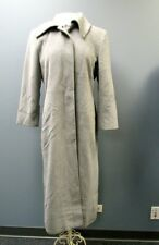 CALVIN KLEIN Gray Angora Long Sleeves Solid Button Up Lined Coat Sz 10 FF9335