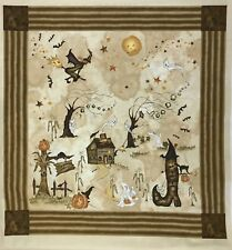 Brand New Sewing Material Quilting Fabric PanelHalloween Haunted Hallow Witch