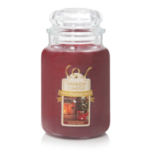☆☆HOLIDAY HEARTH☆☆ LARGE YANKEE CANDLE JAR 22OZ.~FREE FAST SHIPPING☆☆GREAT SCENT