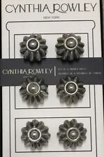 CYNTHIA ROWLEY~Vintage Inspired SILVER Drawer Cabinet Pulls~Round Knobs~NEW!