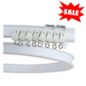 Ceiling Curtain Track Window Rod Rail System Flexible Curve Divider Rv Privacy