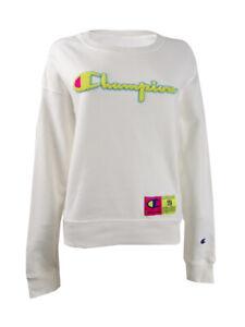 Champion Women's Reverse Weave Neon Crewneck Sweatshirt