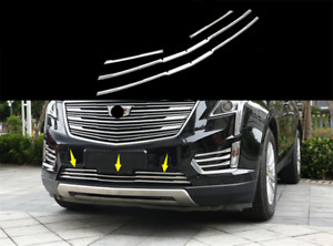 2017-20 For Cadillac XT5 Stainless steel front bumper grill Strip cover trim 4PC