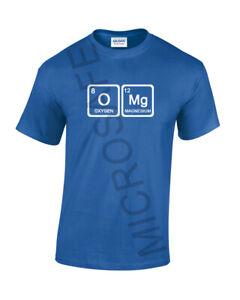 "Mens Funny Joke Novelty Gift For Him Unique Science Elements T-Shirt ""OMG""  S-XL"