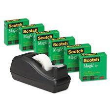 """Scotch - Scotch Magic Tape, 3/4"""" x 1000"""", 1"""" Core, Black - 6/Pack  NEW"""