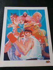Capcom street fighter art print unframed 11x14